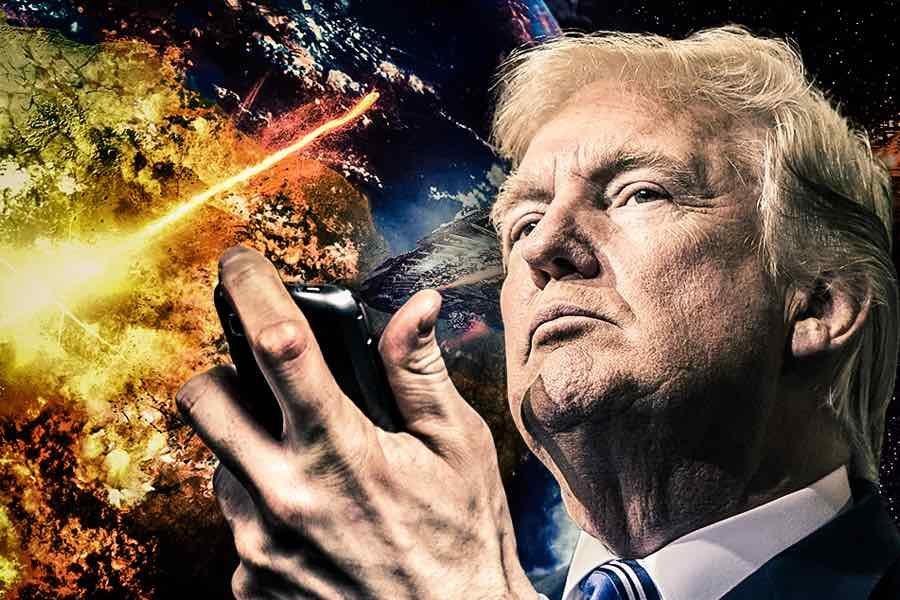 Trump Trump hitting impeach bomb buttonimpeaching himself